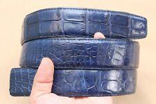 Unjointed - Blue Genuine Alligator, Crocodile Belt Skin Leather Men's - W 1.5''