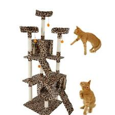 "72"" Cat Tree Condo Sisal Furniture Scratching Post Pet Cat Kitten House Toy"
