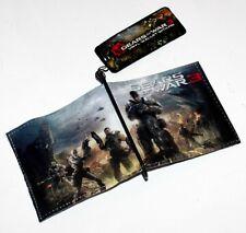 GEARS OF WAR 3 Microsoft XBox 360 Video Marcus Fenix BIFOLD WALLET and LAPEL PIN