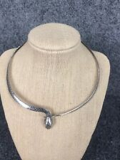 Unique sterling  Silver 925  Snake Collar necklace