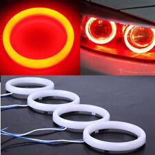 2X Red High Power Car DRL Fog Brake LED Angel Eyes Halo Ring Light 60-120mm 24V