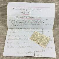 Hms Palamite 1855 British Royal Navy Spedizione Navale Guerra Documento Ephemera