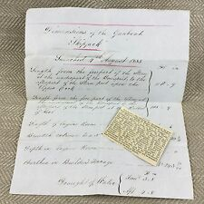 Rare Royal Navy Ship Boat Specifications Letter Crimean War 1855 Document Note