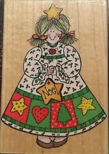 Hero Arts Wood Mounted Christmas Rubber Stamp - Holiday Gal