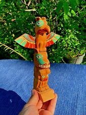Vintage MADE IN ALASKA Eskimo American Indian TOTEM POLE Table Top 9/6