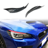 Painted Fit For Subaru WRX STI 4D Front Front Eyelids Eyebrow Headlight Cover