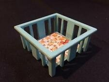 Vintage Fisher Price Little People Blue PLAY PEN Playpen BABY BED CRIB NURSERY