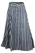 Full Length Denim Regular Size Casual Skirts for Women