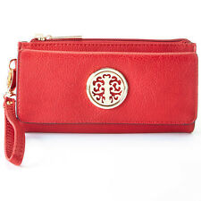 MKF Collection Tri-fold Medallion Wristlet for Women RRP$39