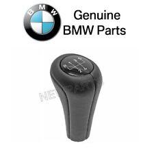 NEW BMW E34 E46 323Ci 525i 535i Shift Knob - Black Leather with 5-Speed Emblem