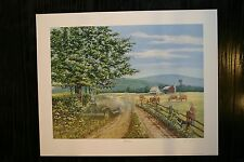 Overheated James Lumbers Signed Open Collectors Edition Print Antique Car
