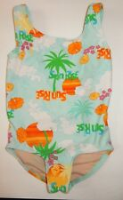 Girls Sz. 4 Old Navy Tank Suit Keyhole Back Colorful Tropical Print