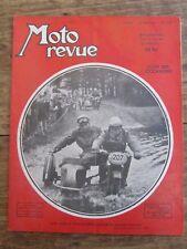 ANCIENNE REVUE MOTO REVUE N° 1091 JUIN 1952 SIDE CAR