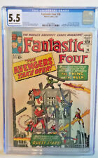 FANTASTIC FOUR #26 *CGC 5.5 OW TO WHITE PAGES* THING VS HULK AVENGERS APPEARANCE