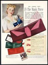 1941 Lady Buxton Magic Purse billfold photo vintage print ad