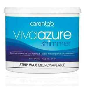 Caron Caronlab Viva Azure Strip Wax Microwaveable Waxing Hair Removal (400g)