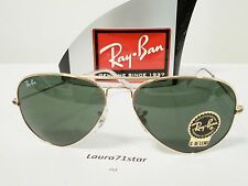 RayBan Aviator 3025 001 62/14 Arista Gold Lente G15 occhiali sole Sunglasses