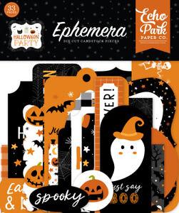 Echo Park Halloween Party Ephemera Pack ::  Craft Embellishments Toppers