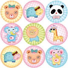 144 Animali Selvatici circa 30mm Children's Reward Adesivi per gli insegnanti, Festa Borse