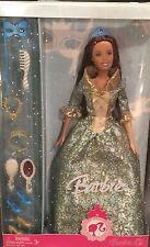 Aqua Masquerade Ball Brunette Barbie Renaissance Style Gown Mask Comb Crown Shoe