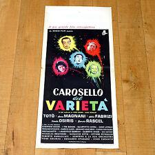 CAROSELLO DEL VARIETA' locandina poster Totò Anna Magnani Macario Rascel B6