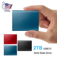USB3.0 2TB External Portable Solid State Drive Mobile Hard Drives For Laptop Mac