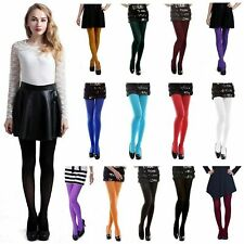 Women Sexy Opaque Tights Solid Color Pantyhose Footed Stockings Autumn Hosiery