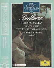 Kempff Beethoven Sonatas CASSETTE ALBUM Great Composers 18 DG Moonlight Pathetiq