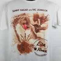 Sammy Hagar Vic Johnson Lite Roast T Shirt Rock Band Coffee