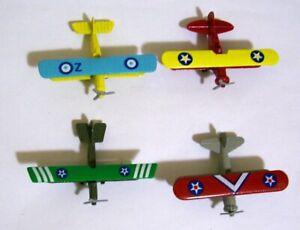 Collector's Set of 4 Miniature Biplanes Reader's Digest NIB