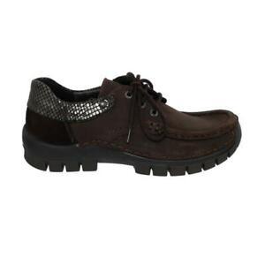Wolky Fly Winter Low Shoe, Antique Nubuck / Gumus, Dark-Brown 0472619-305 Wolky