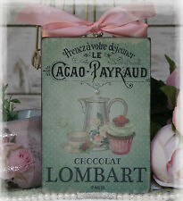 """Chocolate Lombart"" Vintage~Shabby Chic~Country Cottage style-Wall Decor Sign"