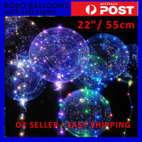 """LARGE ROUND GIANT CLEAR BUBBLE TRANSPARENT BOBO BALLOONS with LED LIGHTS 22"""""""