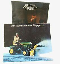 2 VTG John Deere Sales Brochures 1985 Lawn & Garden Tractors; Snow Removal Equip