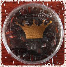 15 GRAMMI ROCAILLES VETRO KNORR PRANDELL 4 MM marrone DADO CUBO BEST QUALITY