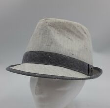 An Original Penguin by Munsingwear Men's Trilby Hat 100% Cotton Grey Fedora S/M