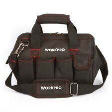 "Workpro 12"" Tool Bag 600D Close Top Wide Mouth Electrician bags Small Bags"
