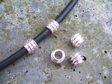 Metallperlen Metallspacer Barrel 6,5x8mm für Bänder 4mm 10 Stück Großloch Perle
