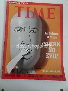Vintage Time European Edition Magazine July 23 1973 ( 'Speak No Evil ' Nixon )