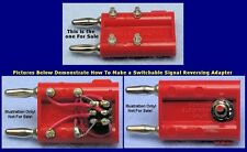 Pomona Dual Banana Jack to Plug Adapter, Series Parallel Component Terminals Red