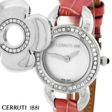 CERRUTI LADIES FIORE SWISS QUARTZ WATCH NEW PINK MOP CT68252X103022 LEATHER
