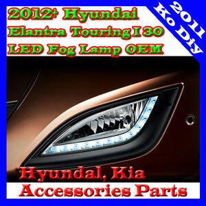 Genuine OEM LED Fog Lamp Light DRL Cover For 2012~2015+ Hyundai Elantra GT i30