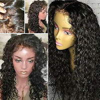 Pre-Plucked 100% Human Hair Wigs Curly Full Lace Wigs Glueless Lace Front Wigs