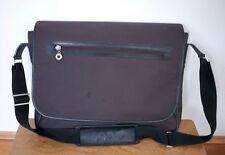 ECCO Brown Nylon Multi-Pocket Adjustable Laptop Soft Briefcase Carry On Bag