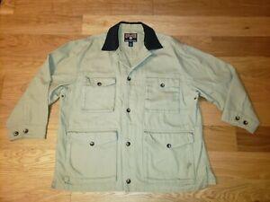 Duluth Trading Canvas Chore Barn Jacket Coat Mens XXL Workwear Corduroy Collar