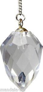 Pendule Goutte à Facette Cristal de roche (Esotérisme)