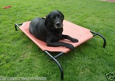 Large Steel framed Elevated Dog Bed with 2 Fabric Covers Holds up to 100 lbs