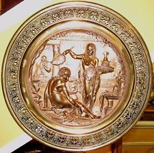 19TH CENTURY EMILE LOUIS PICAULT RETICULATED BRONZE CHARGER -OTHELLO'S DESDEMONA