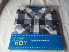 Emma Bunton boys Roll - up Sleeve shirt 100% cotton 4 - 5 YEARS checked