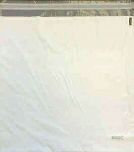 """200 18"""" x 18"""" Unlined White Poly Mailer- Largest Cubic Tier 5 Bag Self Seal"""